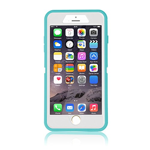 smartelf Case for iPhone 7 Plus/8 Plus Heavy Duty With Built-in Screen Protector Shockproof Dust Drop Proof Protective Cover Hard Shell for Apple iPhone 7+/8+ 5.5 inch-Blue/White