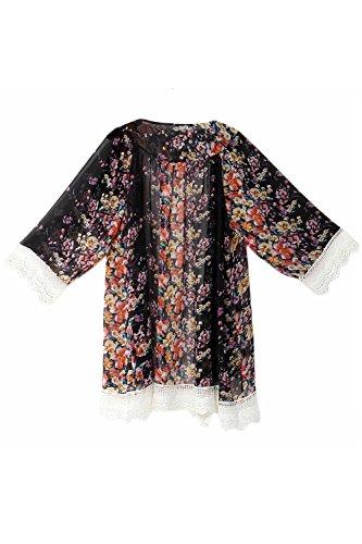 Outwear Della Cardigan Nimpansa Daily Palangaro Giacche Donne Manica Chiffon Black Lunga wSFzFn67qx