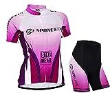 Sponeed Women's Cycle Jersey Bike Clothing Gel Padded Bicycling sportswear Asia XL/ US L Purple