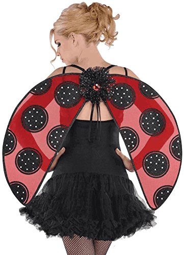 (AMSCAN Ladybug Wings Halloween Costume Accessories for Adults, One)