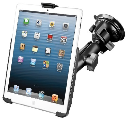 RAM Compatible with APPLE Mount Suction Cup Mount w/Apple iPad mini EZ-ROLL'R Cradle from RAM