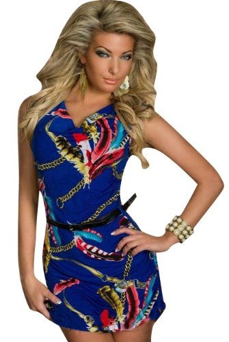 Blansdi Mode Robe Kleid Sexy Babydoll Wrap Federdruck Kleid Minirock Clubwear Kost¨¹m