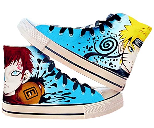 Fanstown Naruto hand painting canvas shoes cool sneaker + 1 poster 2 n0T0KEIgD