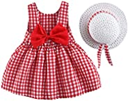 OBEEII Baby Girl Summer Tutu Dress Sleeveless Backless Princess Birthday Party Dresses
