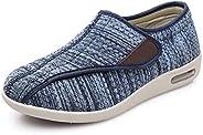 Mei MACLEOD Women Walking Shoes with Adjustable Strap Lightweight Non-Slip Sneakers for Elderly Mother Swollen