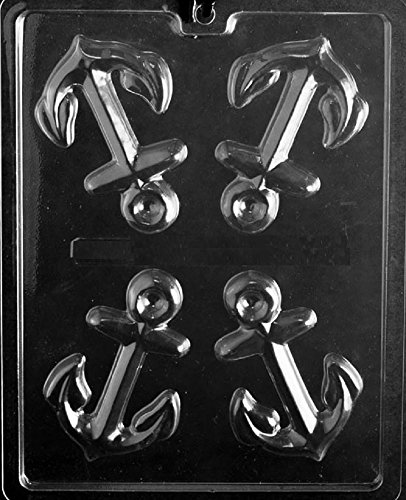 Grandmama's Goodies N068 Anchor Chocolate Candy Soap Mold with Exclusive Molding Instructions