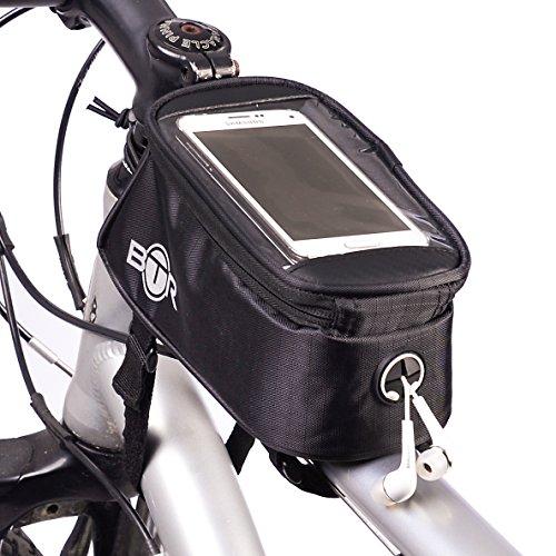 Wasserabweisende BTR-Fahrradrahmentasche & Handyhalterung. 2nd Generation
