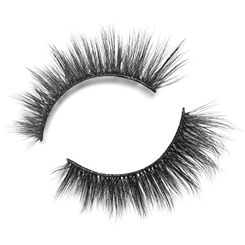 BEPHOLAN False Lashes   0.05 Thickness Synthetic Fiber Material  3D Faux Mink Lashes  Natural Look  100% Handmade% Cruelty-Free  Reusable  Easy to Apply  1 Pair  XMZ88