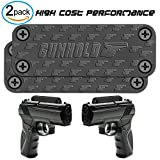 GUNHOLD 2-Pack Magnetic Gun Mount & Car Holster - Rubber Coated 4-Screw Magnetic