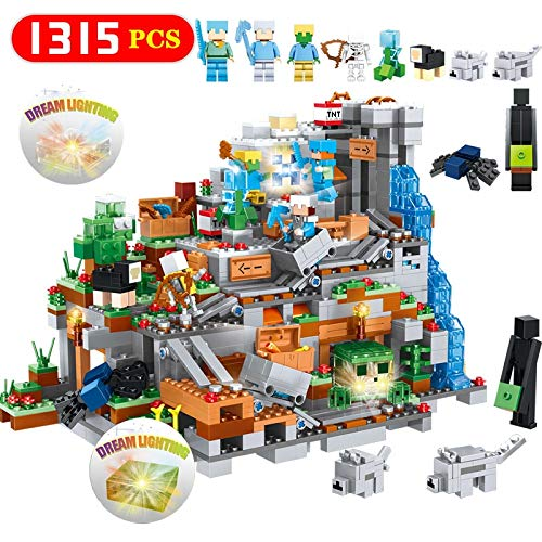 Best Quality New Organs of The cave Blocks 3D Dream Lighting Compatible legoinglys minecrafted Mini Sets Figures Building Bricks Toy Gifts