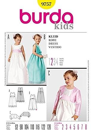 Burda Schnittmuster 9757 Kinder – Kleider & Bolero Alter: 2–8 ...