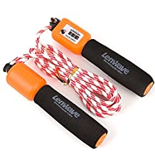 Lenwave Skipping Rope For Exercise, Tone, Fitness Workouts, Boxing,Crossfit Jump Rope with Timer Counter
