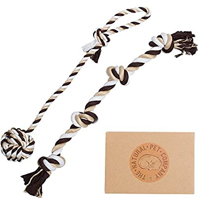The Natural Pet Company Tug-of-War Dog Rope Toy in Gift Box, 2-Piece from The Natural Pet Company