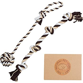 The Natural Pet Company Tug-of-War Dog Rope Toy in Gift Box, 2-Piece