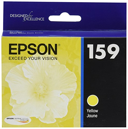 Epson UltraChrome Hi-Gloss 159 Inkjet Cartridge (Yellow) (T159420)