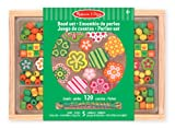 Melissa & Doug Flower Power Wooden Bead Set With 150+ Beads and 5 Cords for Jewellery-Making
