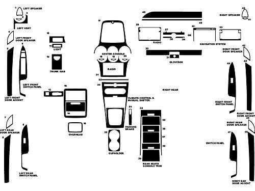 - Rdash Dash Kit Decal Trim for Saturn Vue 2008-2009 - Matte (Silver)