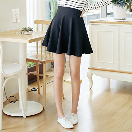 Super Modern - Vestido - trapecio - para mujer Black(skirt with pants)