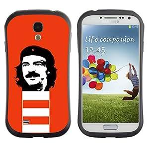 Fuerte Suave TPU GEL Caso Carcasa de Protección Funda para Samsung Galaxy S4 I9500 / Business Style Che Guevara Revolution Portrait Communism