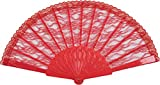 Best Bristol Novelty Fans - Bristol Novelty Fancy Party Fan Lace Red, Womens Review