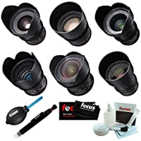 Rokinon Cine DS 6 Lens Bundle for Canon EF Mount (14, 24, 35, 50, 85, and 135mm)