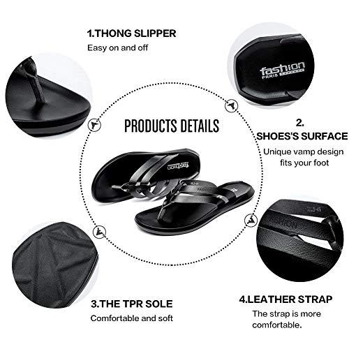 Pictures of BINSHUN Men Thong Sandals Flip Flops Lightweight 6