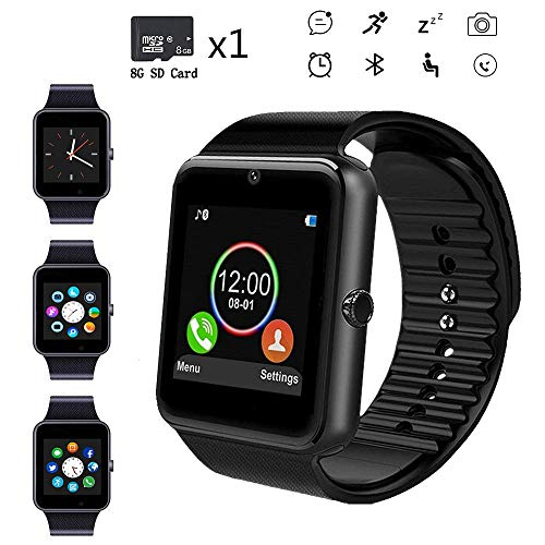 Beaulyn Smart Watches,Touch Screen Sport Wrist Watch Phone for Android Pedometer Smartwatch Compatible Samsung Men Women ...