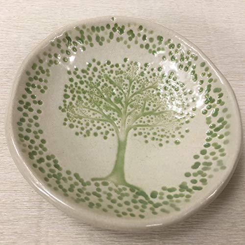 (JANECKA Tree of Life Pottery Soap Dish 4.25