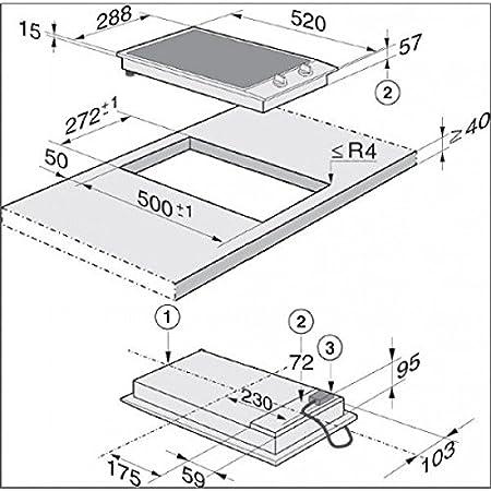 Miele-cocina dominó vitrocerámica CS 1112 y 30 cm: Amazon.es ...