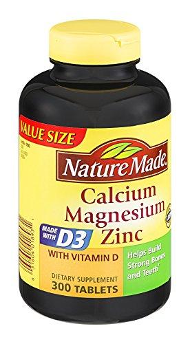 Nature Made Calcium Magnesium Zinc Tablets 300 ea (Pack of 3)