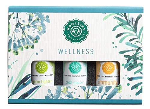 Woolzies Pure,Therapeutic Wellness Essential oil set Germ fighter blend, Immunity (thieves) booster blend , cold stopper blend oi