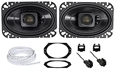 Polk Audio 4x6 Waterproof Front Speaker Replacement for 97-02 Jeep Wrangler TJ