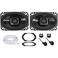 Jeep Wrangler TJ 97-02 Polk Audio 4x6 Waterproof Front Speaker Replacement Kit