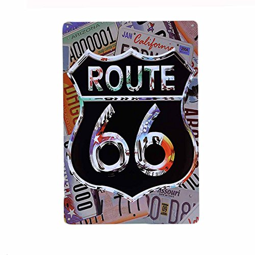 (AiYahoo Retro Road Signs with Route 66 Feel the Freedom Tin Sign 8