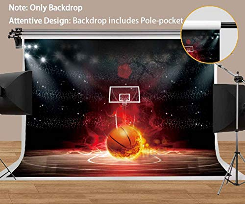 Basketball Backdrop Abstract Photography Background MEETSIOY 7x5ft Themed Party Photo Booth YouTube Backdrop PMT347 (Photo Basketball)