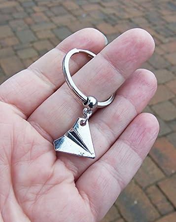 Amazon.com: Jewelry tycoon®Paper airplane keychain, paper ...