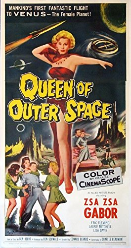 QUEEN OF OUTER SPACE ZSA ZSA GABOR VENUSIAN SCIENCE FICTION 1958 3-SHEET