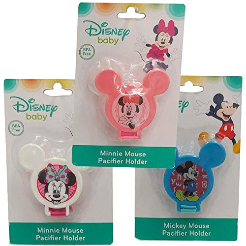(Pack of 24) Disney Pacifier Holder Mickey Minnie, Assorted BPA Free by MB-S