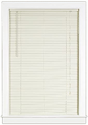 Achim Home Furnishings Deluxe Sundown 1-Inch Blind, 36-Inch by 64-Inch, Vanilla/Alabaster - Home Furnishings