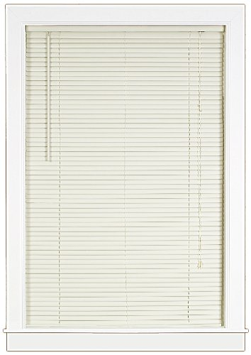 (Achim Home Furnishings Deluxe Sundown 1-Inch Blind, 29-Inch by 64-Inch, Vanilla/Alabaster )
