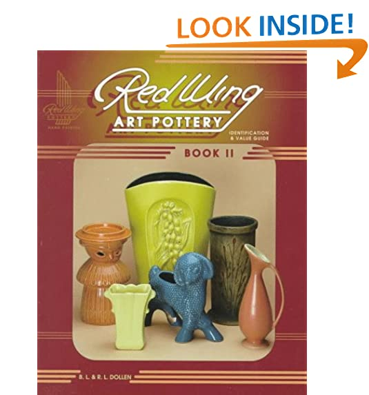 Red wing minnesota amazon red wing art pottery identification value guide book 2 sciox Images