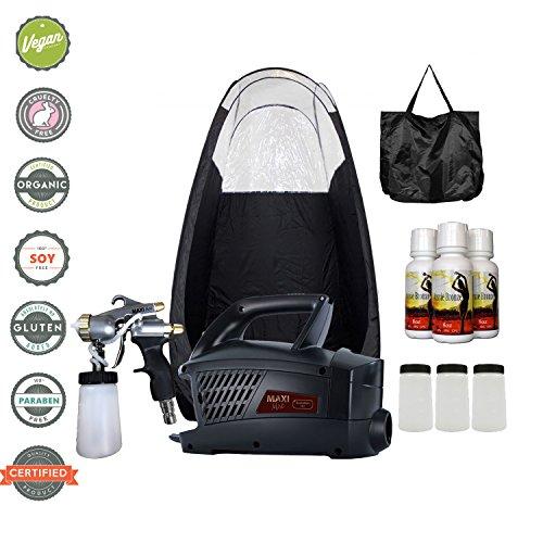 (MaxiMist Evolution Pro HVLP Spray Tanning System with Pop Up Tan Tent Black)