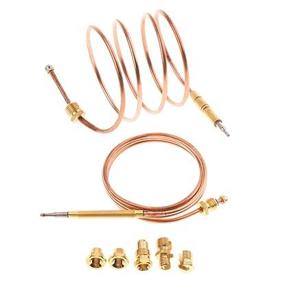 Sharplace 90cm Termopar Conjunto de Piezas Repuesto para Calderas Gas Adaptador Universal