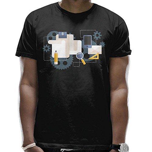 Engineering Flow Chart Mens Performance T-Shirt Round Neck Short Sleeve Tee