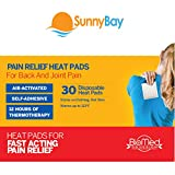 Self Adhesive Body Heat Pads: 30 Air Activated Disposable Heat Therapy Pads for Sore Upper Back, Neck & Shoulder Pain Relief & Menstrual Cramps - Personal, Non Electric Deep Muscle Hot Pack Compresses
