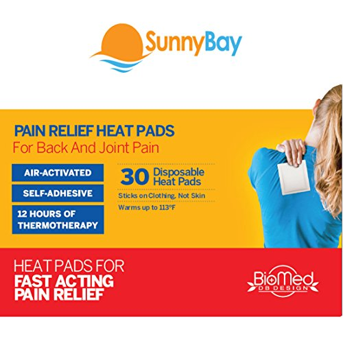 Sunny Bay Heat Patches (Pack of 30) for Sore Upper Back, Neck Shoulder Pain Relief & Menstrual Cramps: Air Activated Disposable Self Adhesive Therapy Pads - Personal Non Electric Deep Muscle Hot Pack