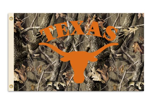 (NCAA Texas Longhorns 3-by-5 Foot Flag with Grommets - Realtree Camo Background)