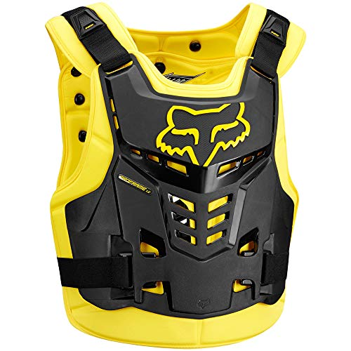 - Fox Racing Proframe LC Roost Deflector-Black/Yellow-L/XL