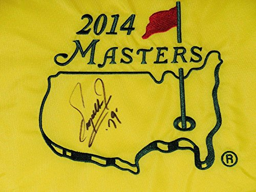 Fuzzy Zoeller Autographed Masters Golf Flag (1979 Winner) - W/Coa! - Autographed Golf Pin Flags