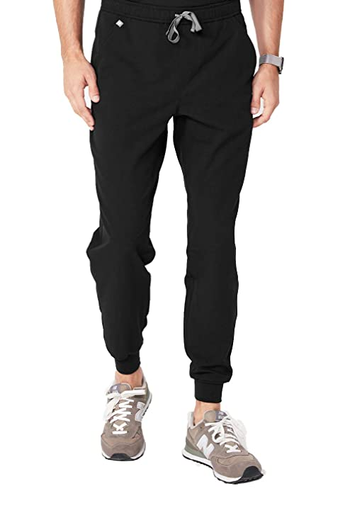FIGS Men's Tansen 2.0 Jogger Medical Scrub Pants, Black M best men's scrub pants